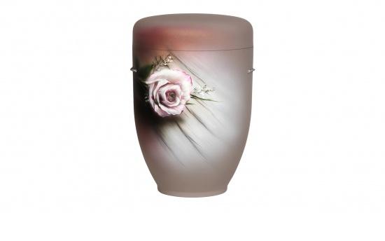"""Zierurne """"Rose auf Holz"""""""