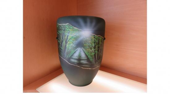 """Zierurne """"Licht im Wald"""""""