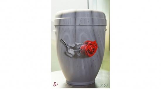 """Zierurne """"rote Rose auf Parkett"""""""