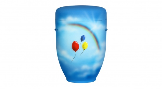 Luftballons gen Regenbogen