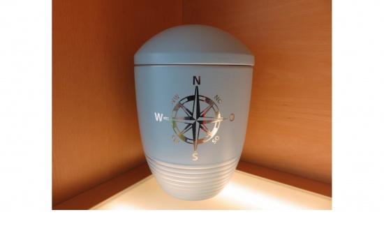 "Zierurne ""Wave Aqua"" Kompass"