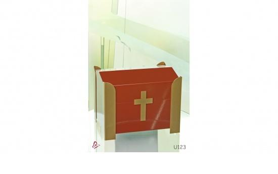 Zierurne Kirchendach rot